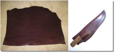 Wet Moulding Leather Knife Sheath