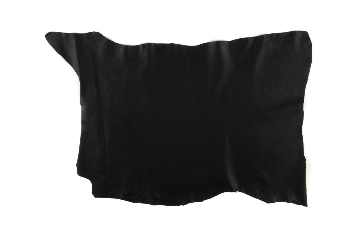 Black Pig Skin Lining Leather Hide