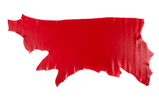Red Montana leather hide