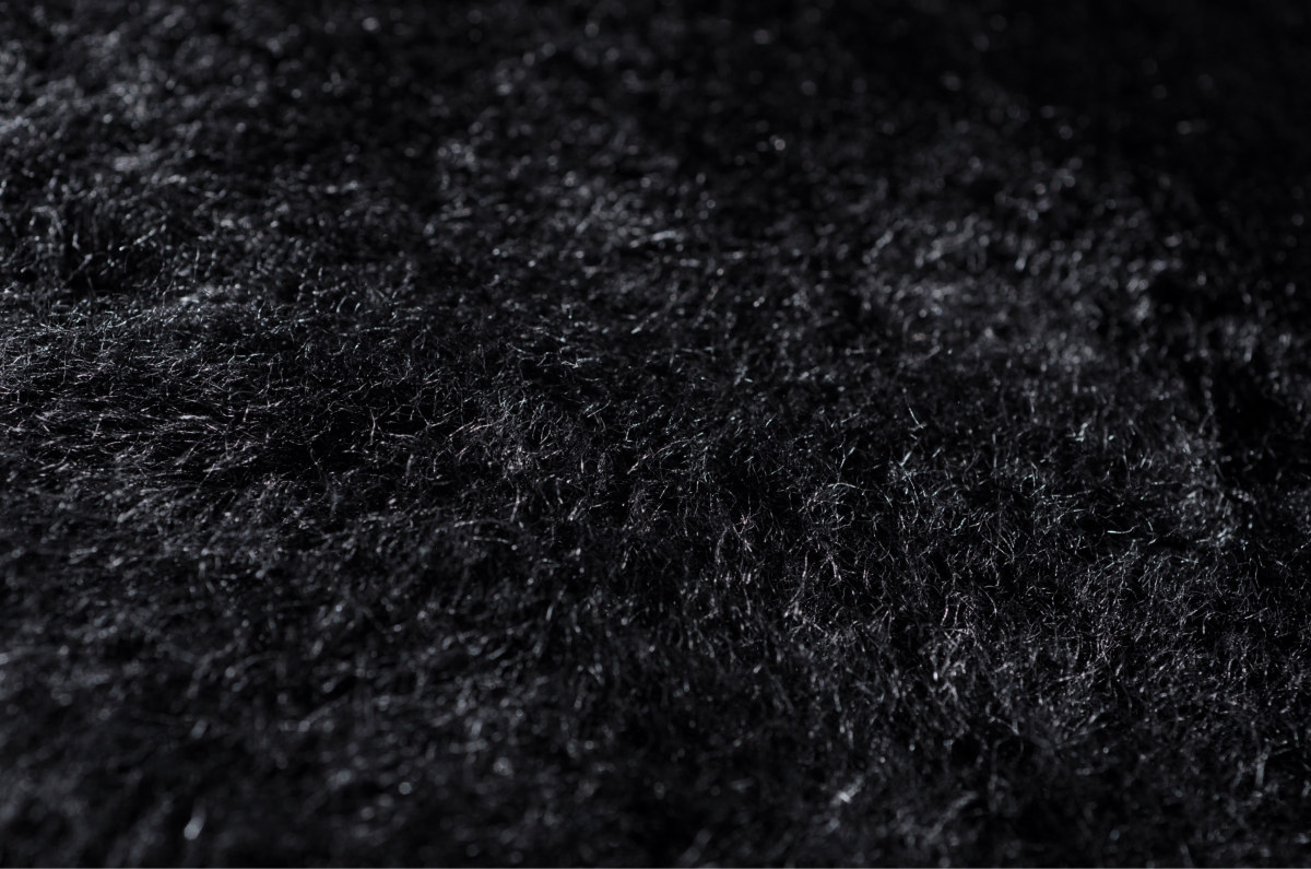 Black Sheepskin Closeup