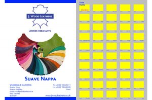 Suave Nappa Leather Swatch Card