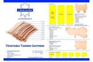 Vegetable Tanned Leather Swatch Card