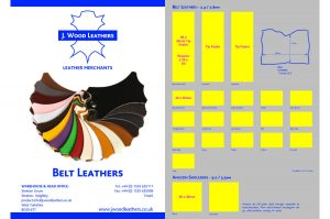 Belt leather swatch card