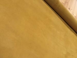 Nubuck Half Cut Skins Saffron