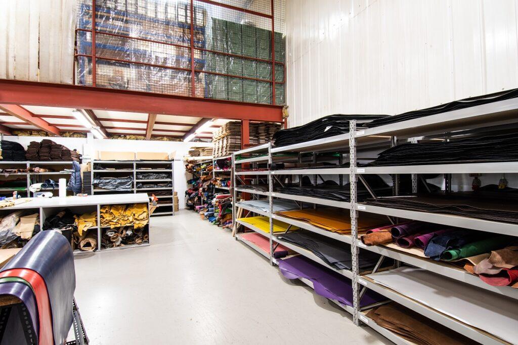 J. Wood Leathers Warehouse Interior