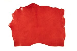Red Vegetable Tanned Leather