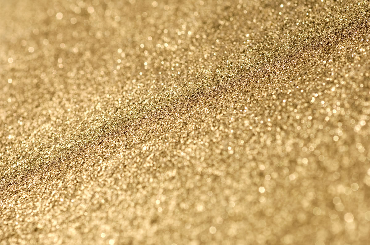 Gold Leather Hide Close Up